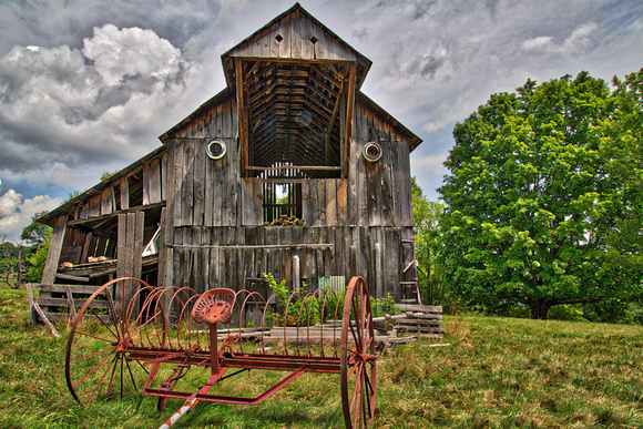 Old barn (built 1901) on the road to Elkins, WV