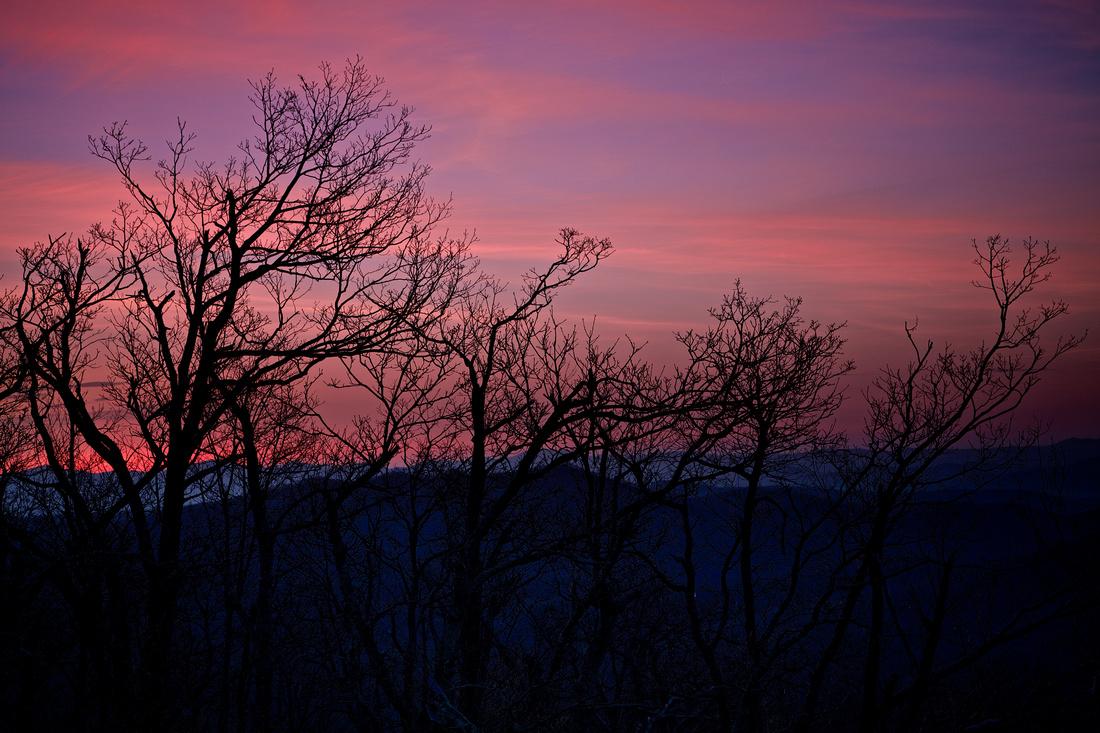 Sunrise: Pounding Mill Overlook, Blue Ridge Parkway, Brevard, NC