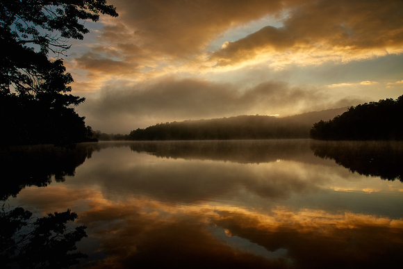 Sunrise over Price Lake, Blue Ridge Parkway, NC