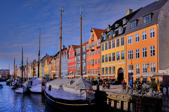 Afternoon on the Nyhavn canal, Copenhagen, Denmark